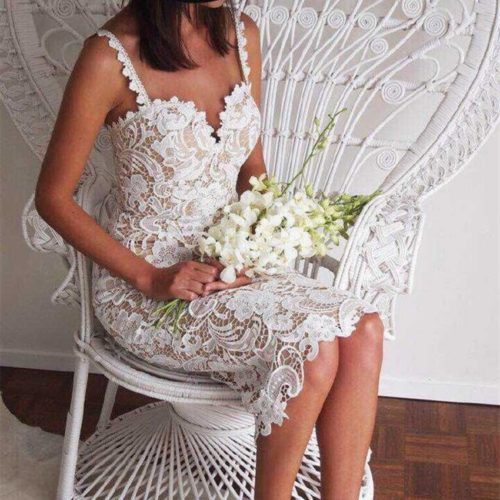 Lace Dress Ladies Elegant Wear
