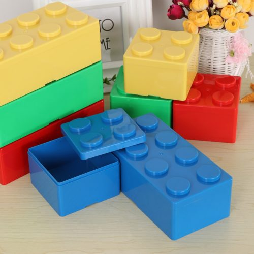 Plastic Storage Bins Blocks Shape