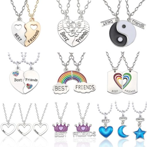 Best Friend Necklaces Friendship Pendants