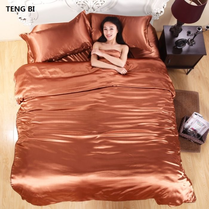 Silk Bed Set Bedding Clothes