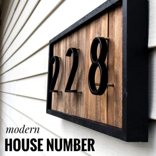 House Number Signs Big Modern