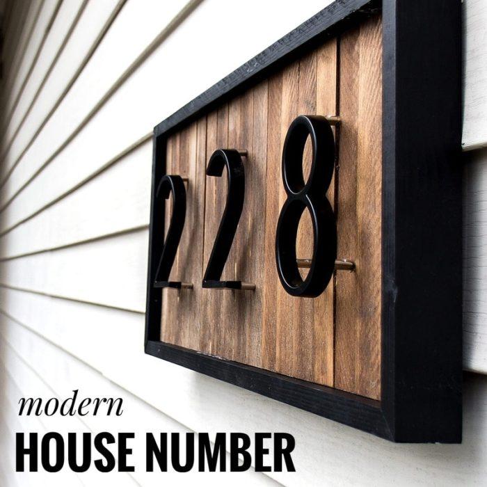 House Number Signs Big Modern