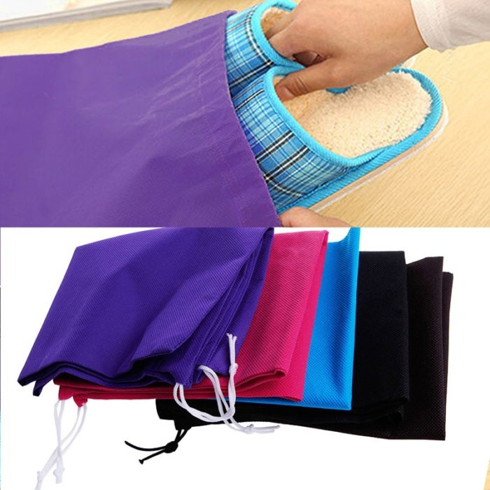 Shoe Bags Drawstring Closure