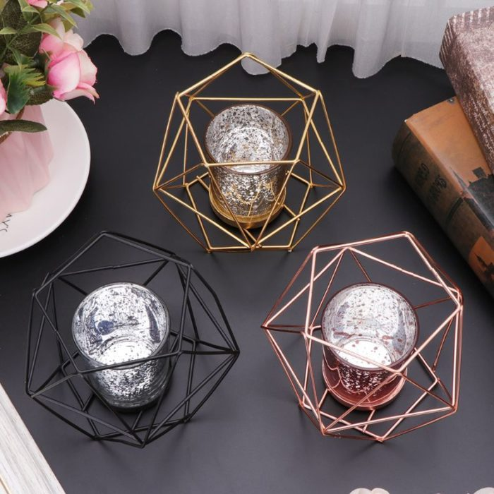 Candle Holders Geometric Nordic Style