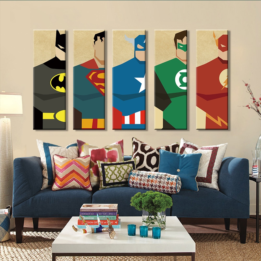 Wall Pictures Superhero Wall Decor