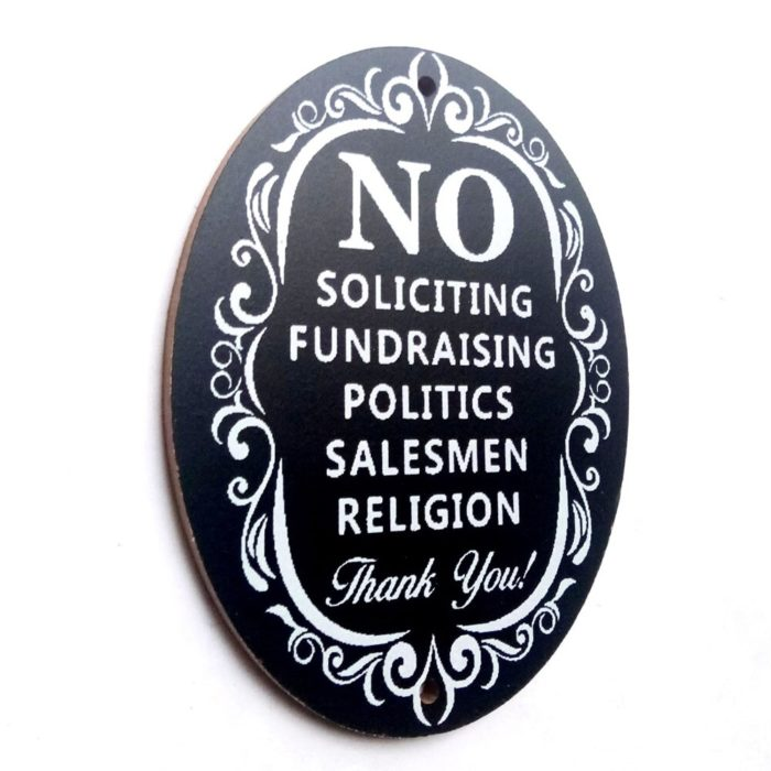 No Soliciting Sign Home/Business Decoration