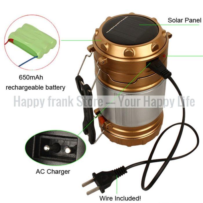 Solar Lanterns Rechargeable LED Lamp
