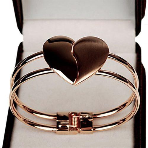 Heart Bracelet Handcuff Style
