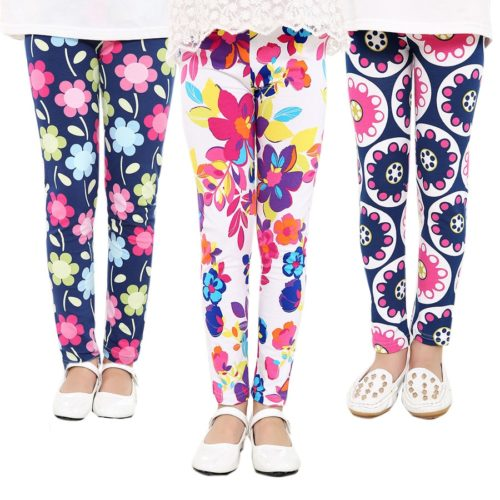 Kids Leggings Girls Flower Prints