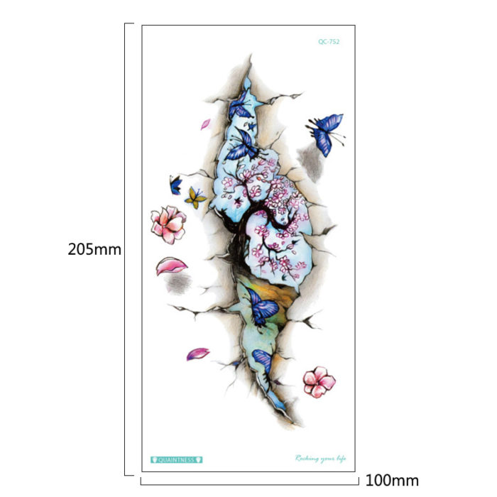 Tattoo Sticker Temporary Flower Design
