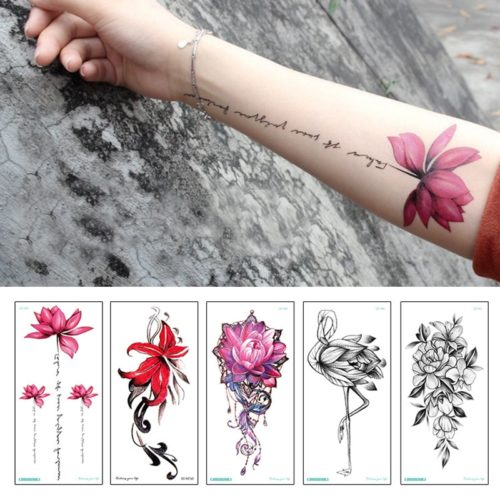 Tattoo Sticker Temporary Flower Design