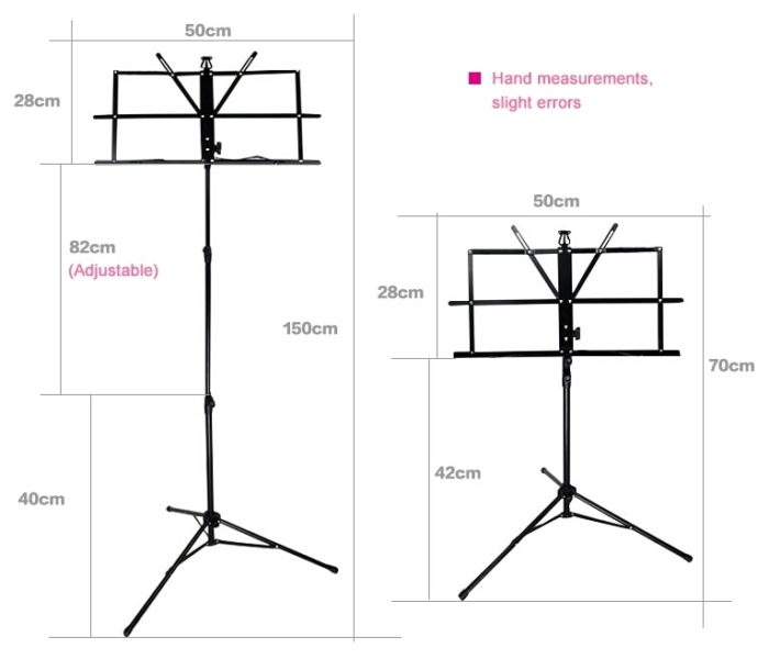 Music Stand Foldable Note Holder