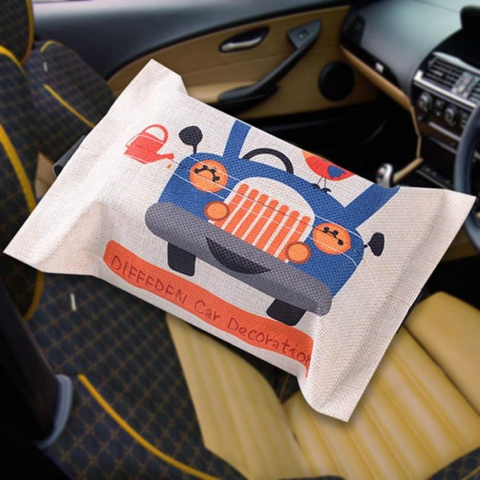 Tissue Box Cover Cartoon Cloth