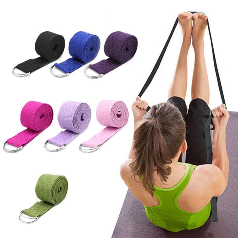 180CM Sport Yoga Stretch Strap D-Ring Belt Gym Waist Leg Fitness Adjustable njf