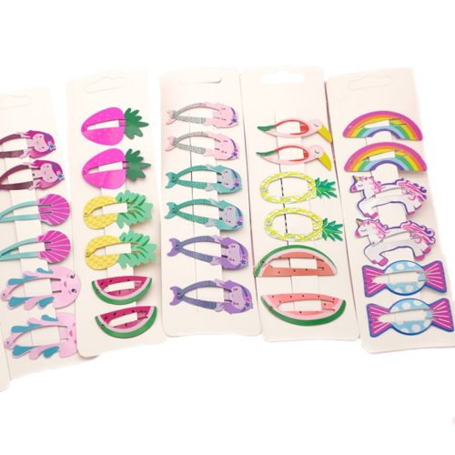 Hair Clips for Girls Fun Designs 6 x Hair Clips for Girls Fun Designs