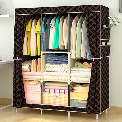 Fabric Wardrobe Storage Cabinet