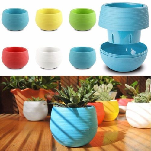 Plastic Plant Pots Home Garden Use