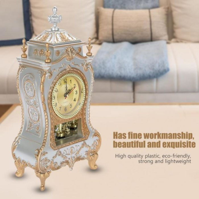 Vintage Clock Decorative Desk Timepiece