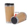 Coffee Tumbler Bamboo Insulated Drinkware