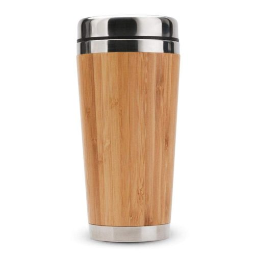 Coffee Tumbler Bamboo Insulated Drinkware