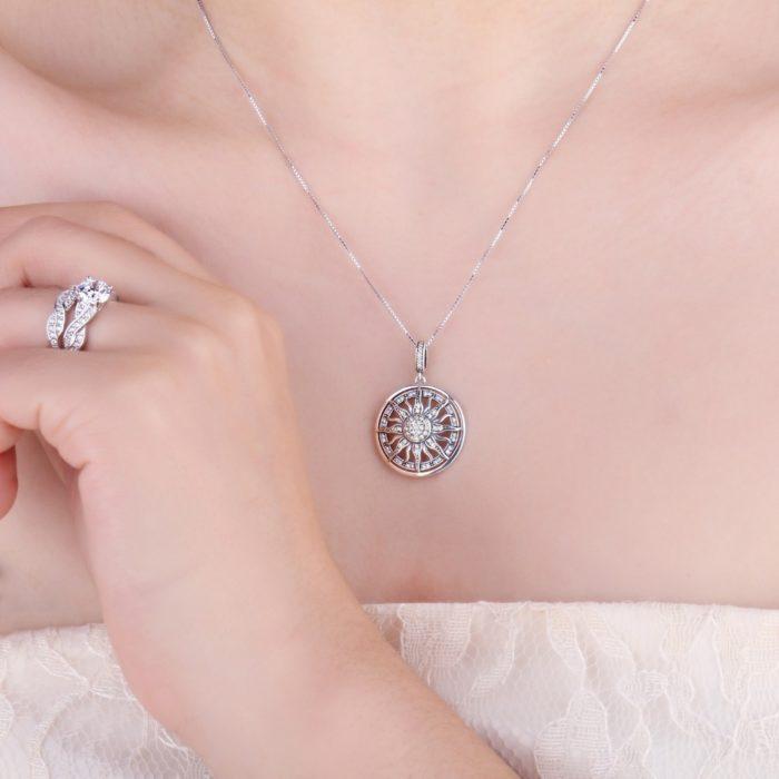 Silver Pendant Necklace Ladies Jewelry