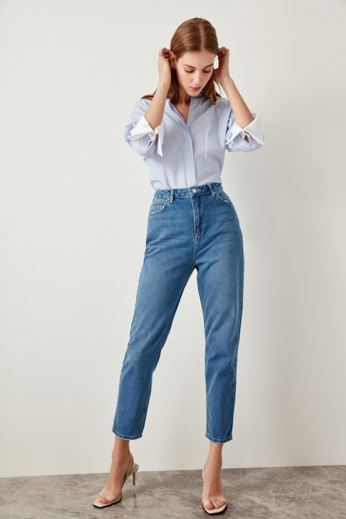 Straight Leg Jeans Ladies Pants