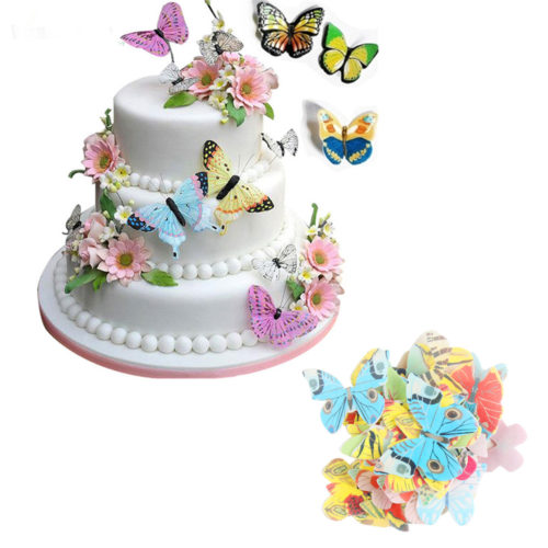 Edible Cake Toppers Mixed Butterflies