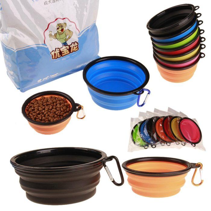 Collapsible Dog Bowl Portable Dish