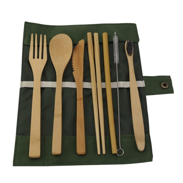 Wooden Cutlery Set Bamboo Tableware