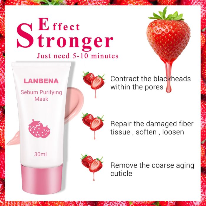Nose Mask Strawberry Pore Strips