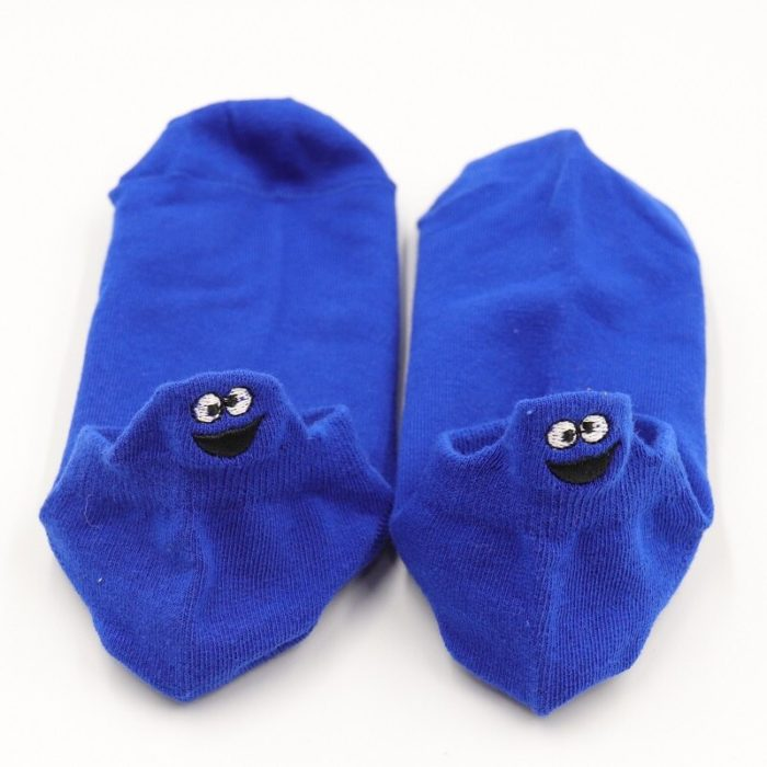 Funny Socks Cute Smile Design