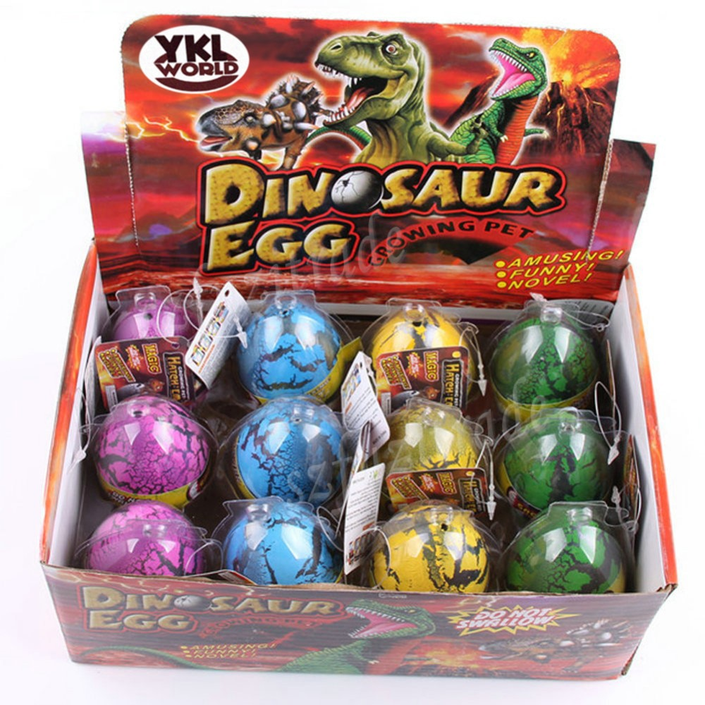 6x Magic Growing Dino Eggs Hatching Dinosaur Add Water Child Inflatable Kid Toy