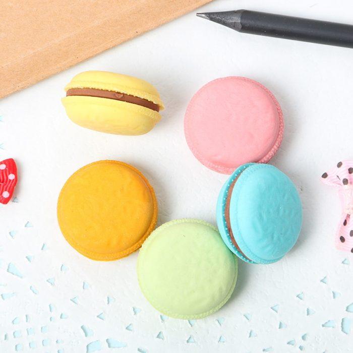 Rubber Eraser Novelty Macaron Design
