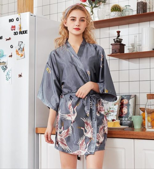 Silk Kimono Robe Nightwear Piece