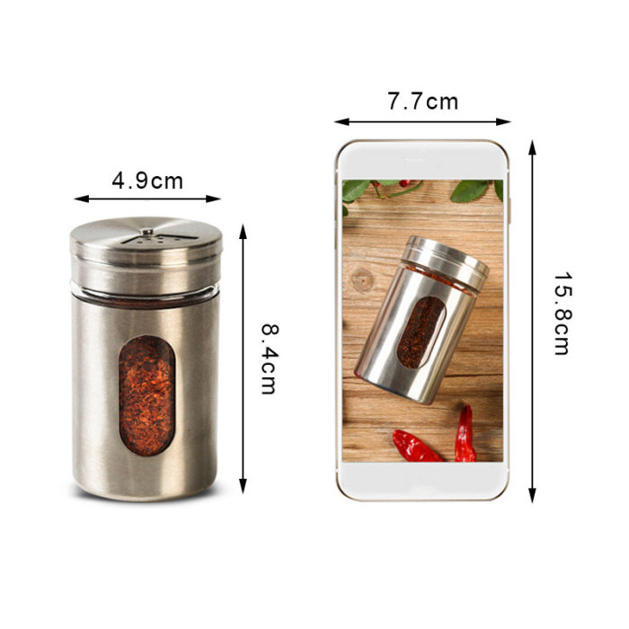 Spice Bottles Stainless Container
