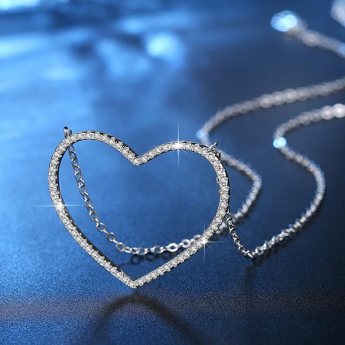 Heart Necklace Long Jewelry Accessories
