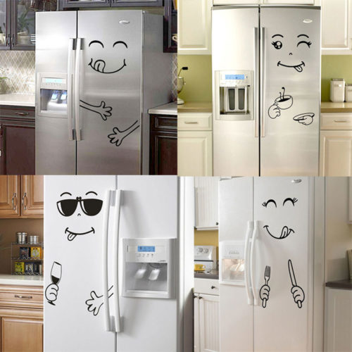 Fridge Stickers Smiling Yummy Faces