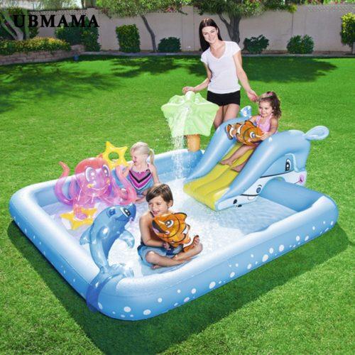 Inflatable Swimming Pool Kid Swim Bath