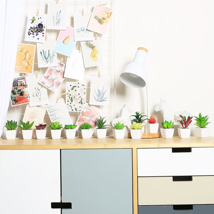 Fake Succulents Potted Artificial Plant