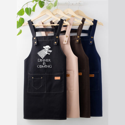 Aprons With Pockets Kitchen Bib