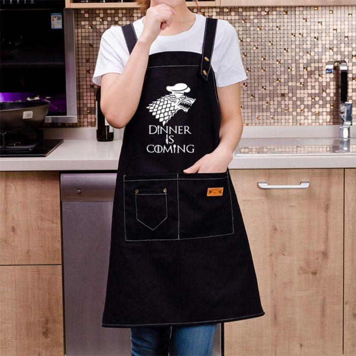 Aprons With Pockets Kitchen Bib