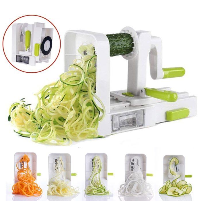 Spiral Vegetable Slicer 5 In 1 Cutter