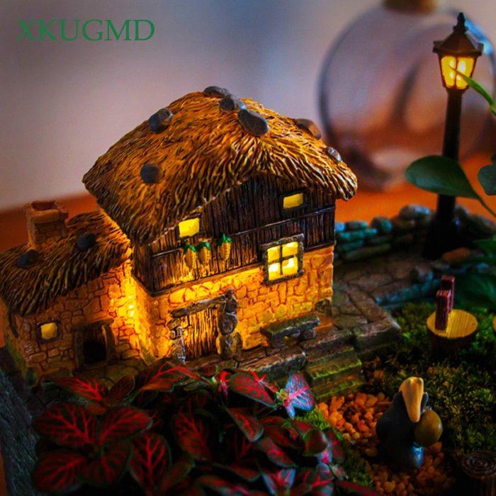 Succulent Planter Light Cottage Decor