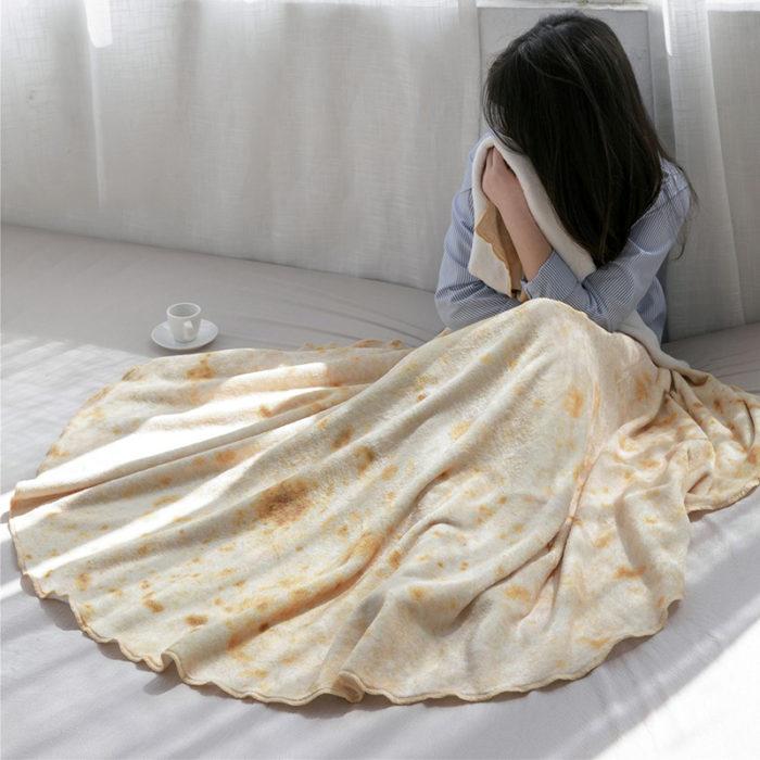 Burrito Blanket Coral Fleece Wrap