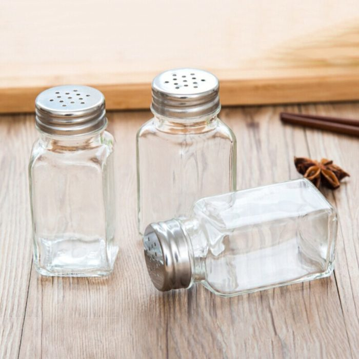 Glass Spice Jar Condiments Bottle