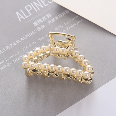 Hair Claw Pearl Ladies Accessories