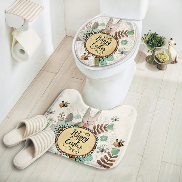Toilet Mat Cute Cartoon Design