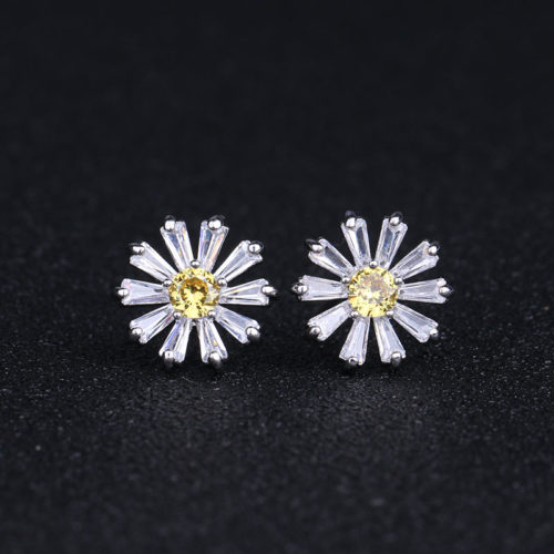 Daisy Earrings Ladies Flower Accessories