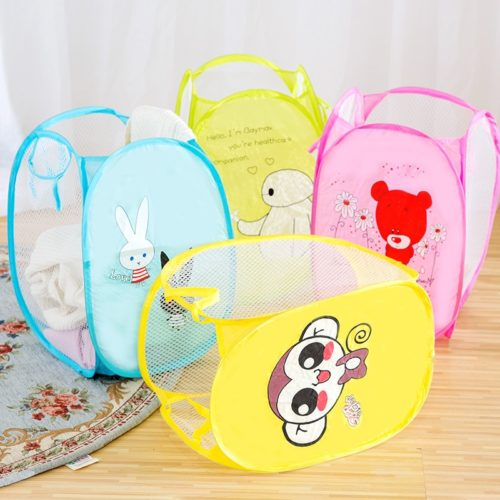 Clothes Hamper Foldable Mesh Cartoon
