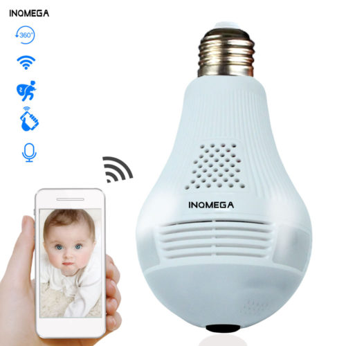 Smart Light Bulb Wifi Security Camera